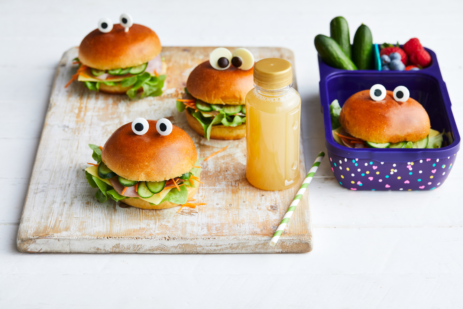 Qukes and Salad Monsters rolls recipe