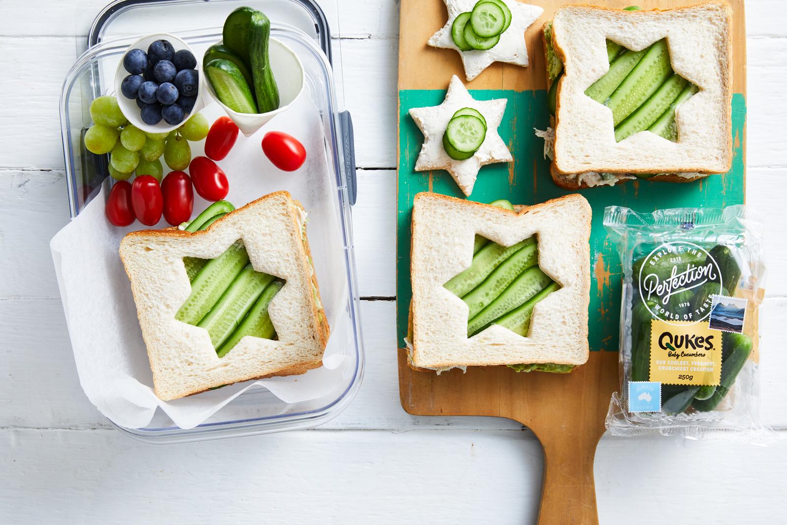 Recipe Qukes Star Sandwiches